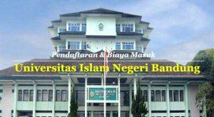 Universitas Islam Negeri Bandung, Pendaftaran dan Biaya Kuliah