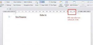 Cara membuat daftar isi, 2. Isikan tulisan, Daftar Isi