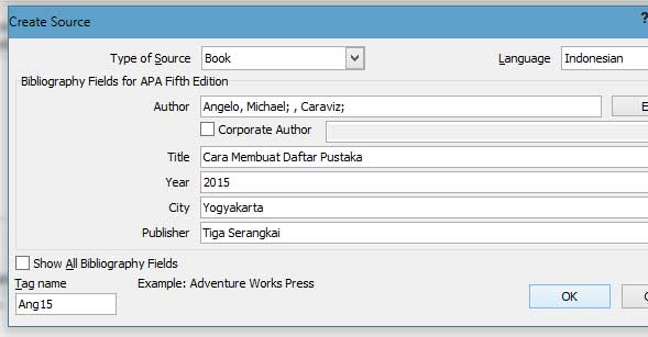 cara membuat daftar pustaka, 5