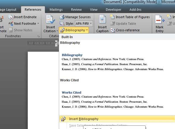 Cara Membuat Daftar Isi Daftar Pustaka Di Microsoft Word
