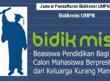 UMPN Jadwal Pendaftaran Bidikmisi UMPN