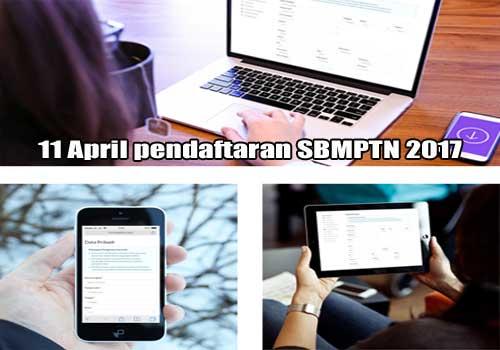 11 april pendaftaran SBMPTN 2017