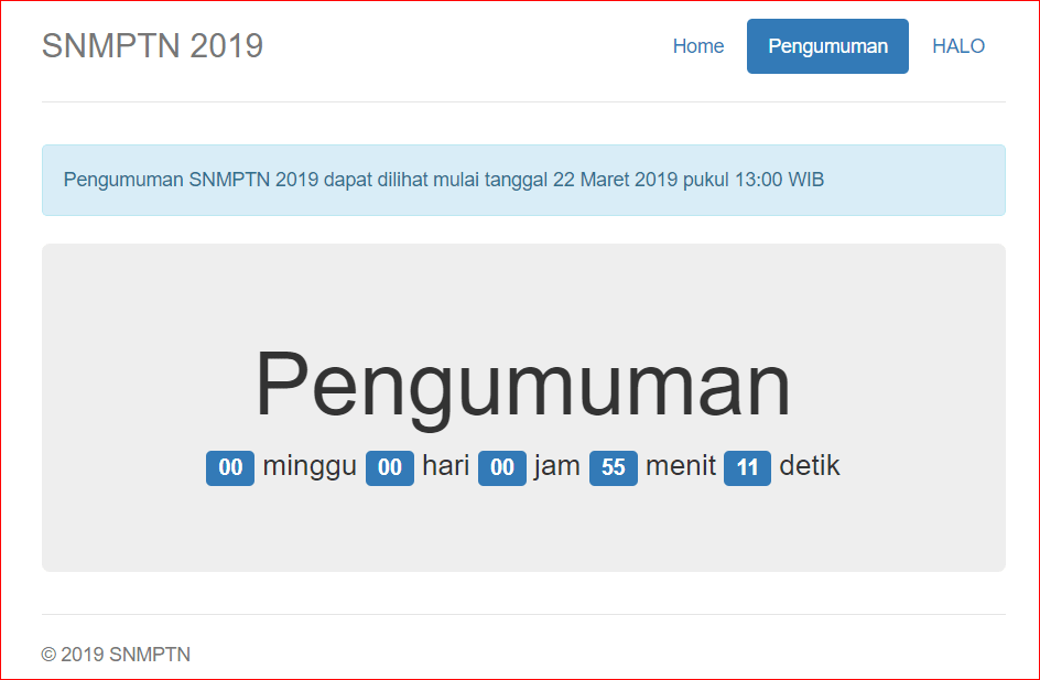pengumuman hasil snmptn 2019