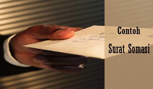 Contoh Surat Somasi Untuk Teguran Yang Baik Dan Benar