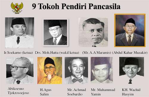 9 tokoh pendiri pancasila