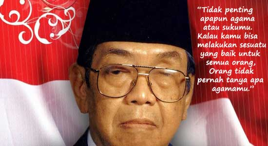 Presiden Abdurrahman Wahid untuk kemerdekaan