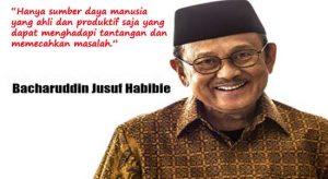 Presiden BJ Habibie untuk kemerdekaan