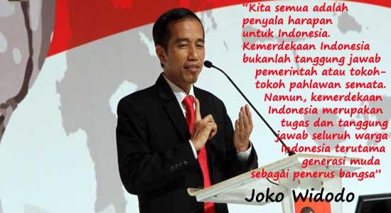 Presiden Joko widodo untuk kemerdekaan