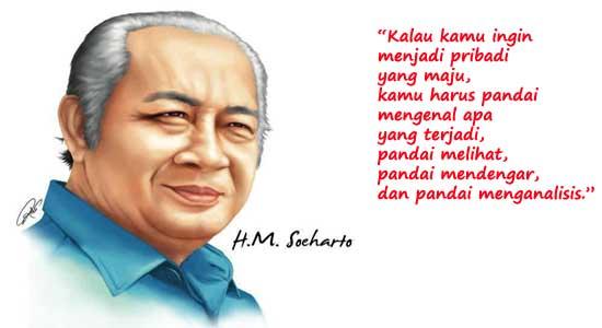 Presiden Soeharto untuk kemerdekaan