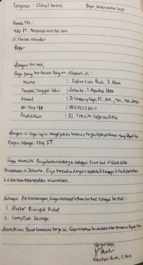 contoh-surat-lamaran-pekerja-tulis-tangan