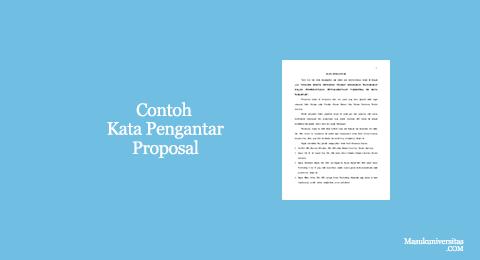 kata pengantar proposal