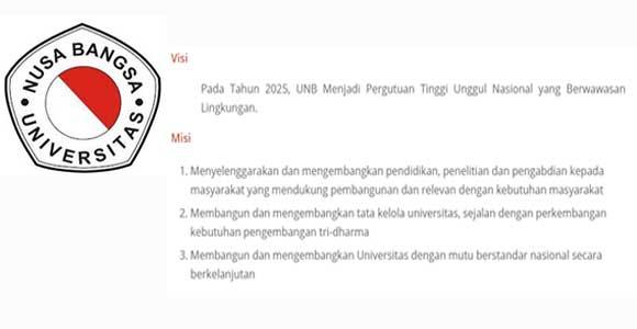 Visi dan misi Universitas Nusa Bangsa