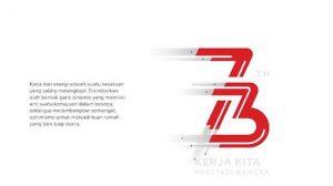 Logo HUT RI Ke 73
