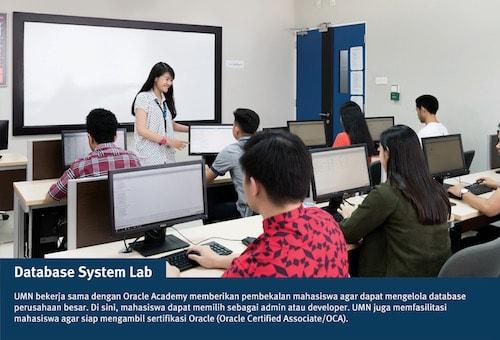 database system lab, fasilitas UMN