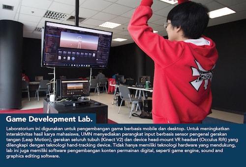 game development lab, fasilitas umn