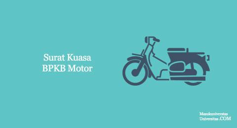 surat hak kuasa BPKB motor