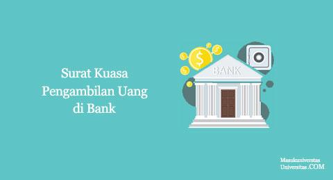 surat hak kuasa pengambilan uang di bank