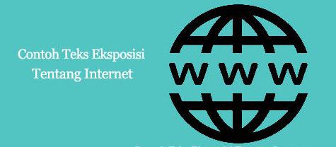 teks eksposisi internet