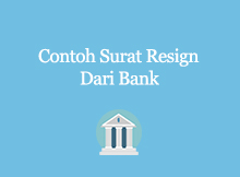 contoh surat resign bank