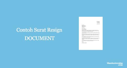 contoh surat resign doc