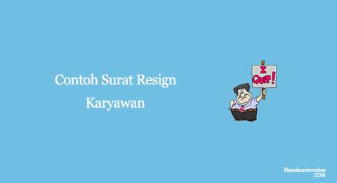 contoh surat resign karyawan