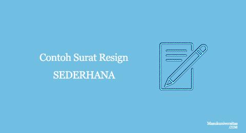 contoh surat resign sederhana