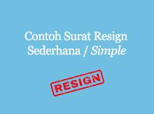 contoh surat resign simple-sederhana