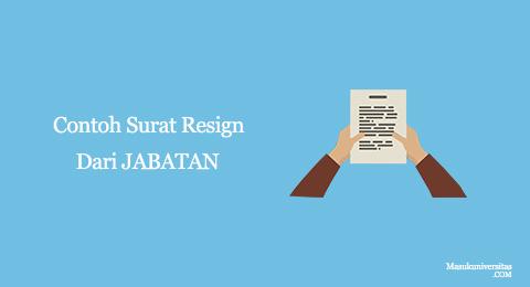 surat pengunduran diri dari jabatan