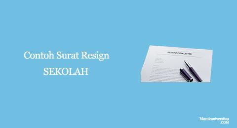surat pengunduran diri dari sekolah