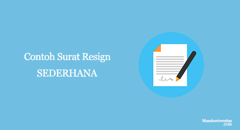 surat pengunduran diri sederhana