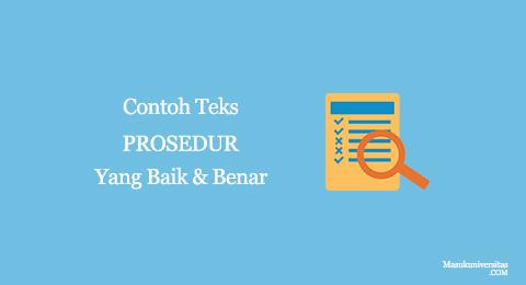 contoh procedure text