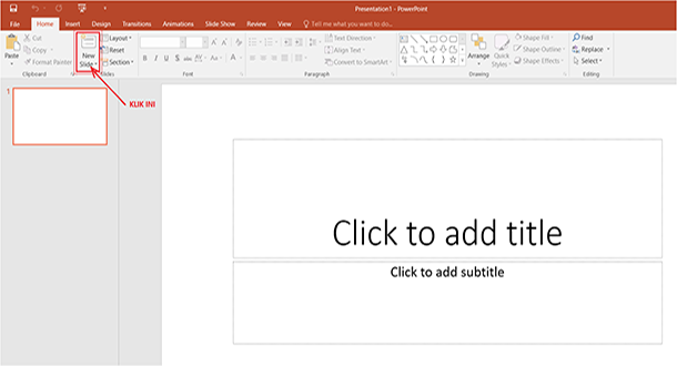 cara membuat new slide powerpoint