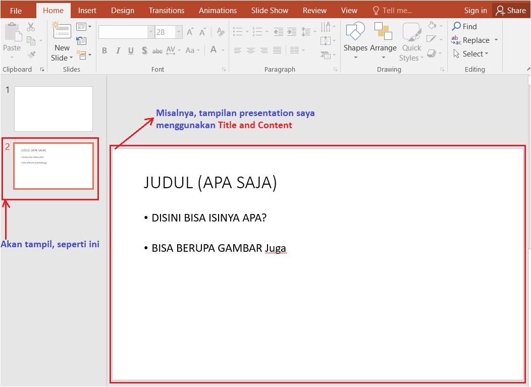tampilan slide baru powerpoint