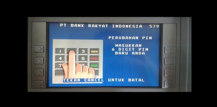 Buat dan masukkan 6 digit PIN untuk SMS Banking