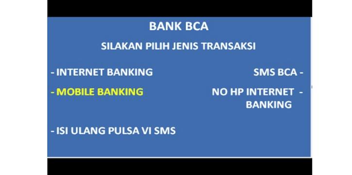 cara mendaftarkan m-banking lewat ATM