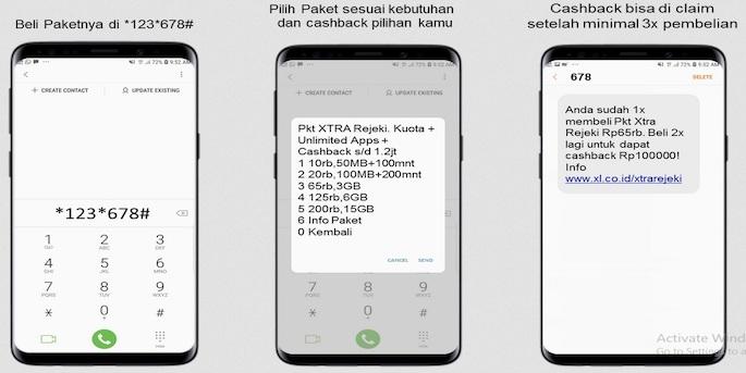 Cara Daftar Paket Internet XL Axiata Xtra Rejeki