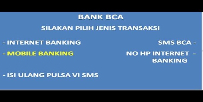 Cara Mengaktifkan SMS Banking BCA Lewat ATM
