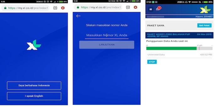 Cara Mengecek Kuota XL Melalui Website MyXL