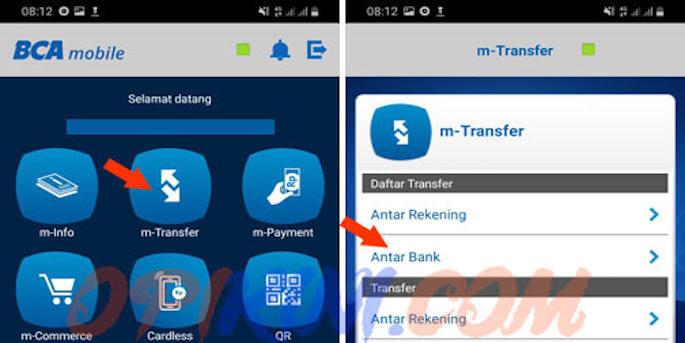 Cara Transfer Antar Bank Lewat M-Banking BCA