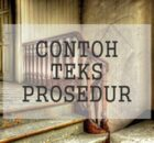 Contoh Teks Prosedur >> 5 Contoh