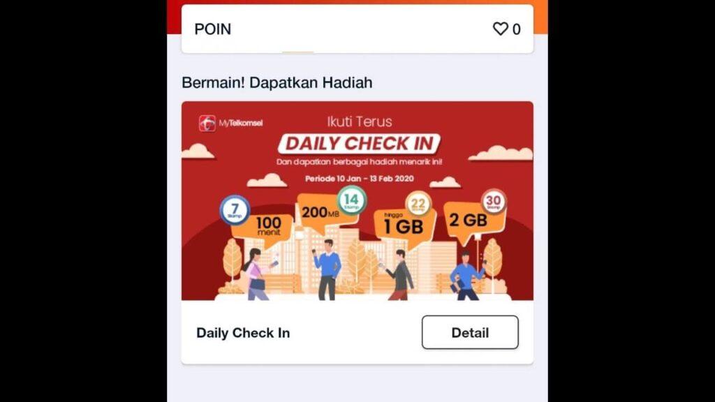 Daily Check-In MyTelkomsel