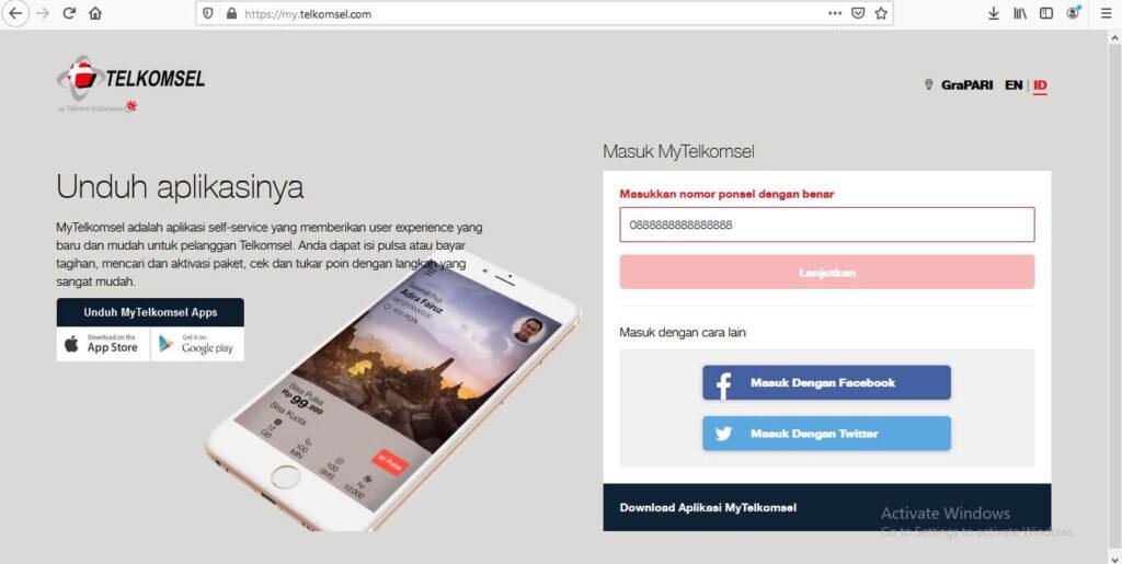 Dengan Website