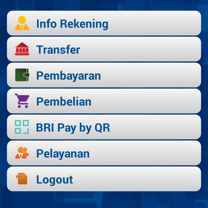Fitur Mobile Banking BRI Pada BRI Mobile
