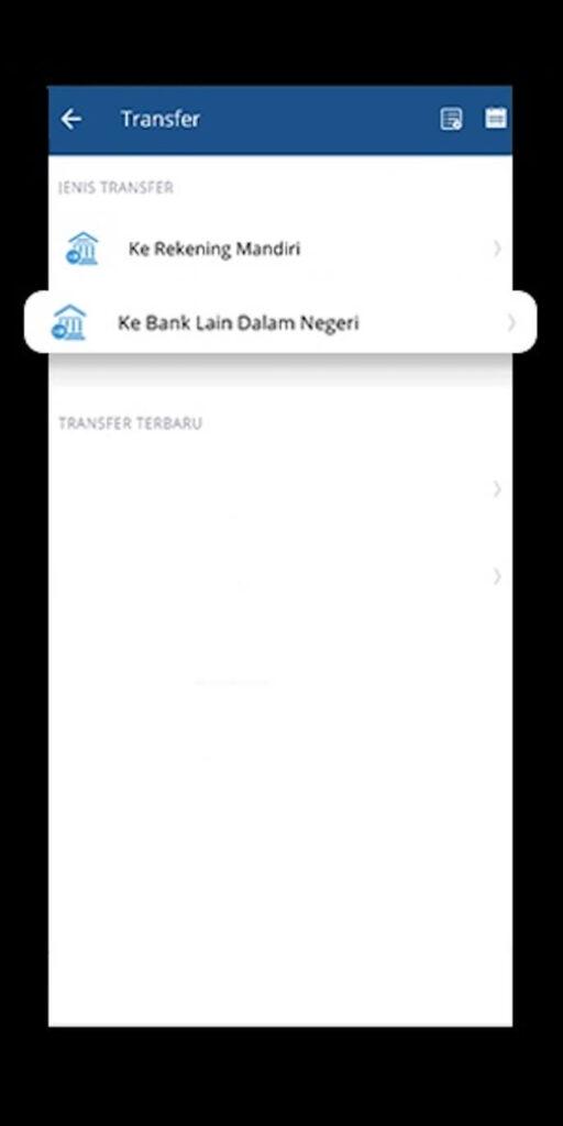 """Jika Anda ingin melakukan transfer uang kepada pengguna bank Mandiri, maka klik saja tulisan """"Ke Rekening Mandiri"""