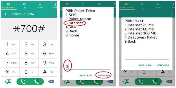 Kemudian ponsel Anda akan menginformasikan pilihan produk yang bisa Anda tukarkan dengan poin yakni SMS