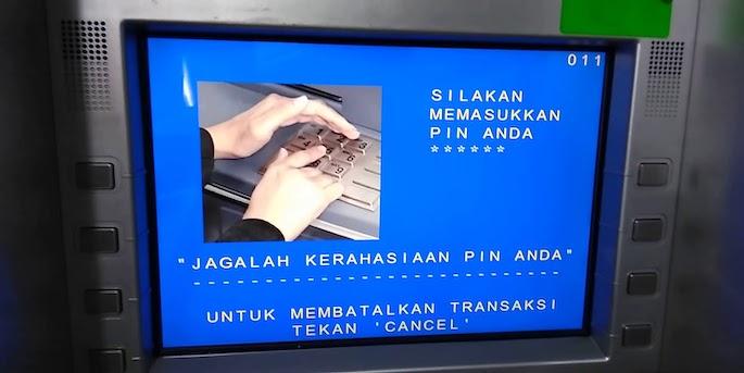 Ketikkan PIN yang diminta. Biasanya berjumlah 6 digit.