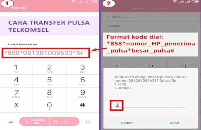 4 Cara Transfer Pulsa Telkomsel Lewat Sms Ussd Dan Telepon