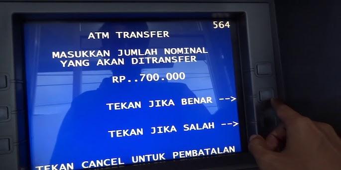 cara transfer uang lewat atm mandiri