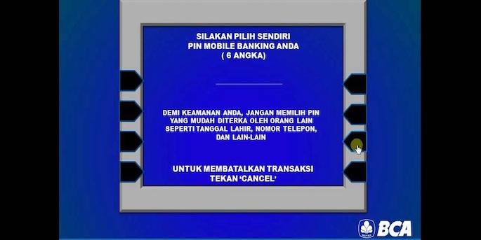 Masukkan PIN yang akan digunakan dalam transaksi internet banking. Ketikkan sejumlah enam digit