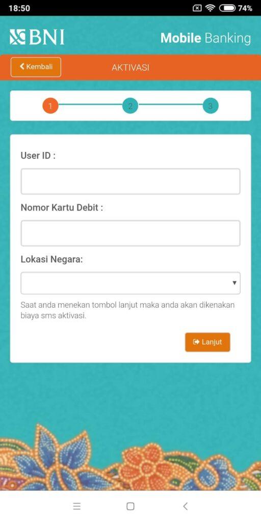 Masukkan data-data penting yang bersangkutan dengan rekening Sobat Edu. Isi kolom nomor rekening, PIN ATM, e-mail, tanggal lahir